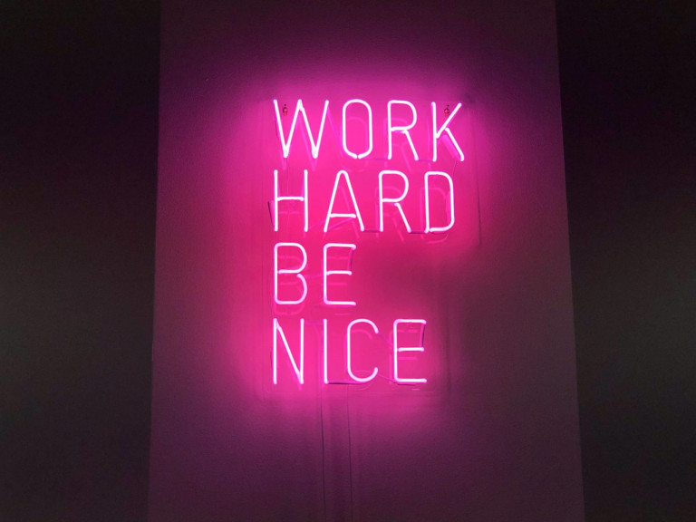 officeneon-workhard-benice